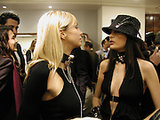 Amanda Ajram and emma Langwith, Opening of a Tod's boutique, Old Bond St. 19 Nov 2003. © Copyright Photograph by Dafydd Jones 66 Stockwell Park Rd. London SW9 0DA Tel 020 7733 0108 www.dafjones.com