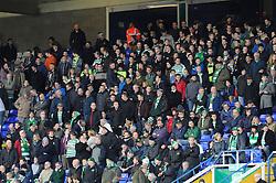 Yeovil away support - Photo mandatory by-line: Dougie Allward/JMP - Tel: Mobile: 07966 386802 18/01/2014 - SPORT - FOOTBALL - St Andrew's Stadium - Birmingham - Birmingham City v Yeovil Town - Sky Bet Championship