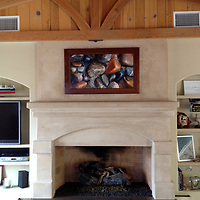 Hilary and John P. in Orange, CA have Granite Reflection gracing their fireplace.
