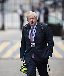© Licensed to London News Pictures . 11/05/2015 . London , UK . BORIS JOHNSON , the Mayor of London , arrives at 10 Downing Street this morning (11th May 2015) . Photo credit : Joel Goodman/LNP