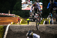 #211 (EVANS Kyle) GBR  at Round 7 of the 2019 UCI BMX Supercross World Cup in Rock Hill, USA