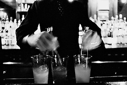 A cold winters night at Death and Company, E. 6th St. in the East Village.  Tom Chadwick and Mayur saddle up to the bar to enjoy the delights of Phil Ward and Joaquin Simo.