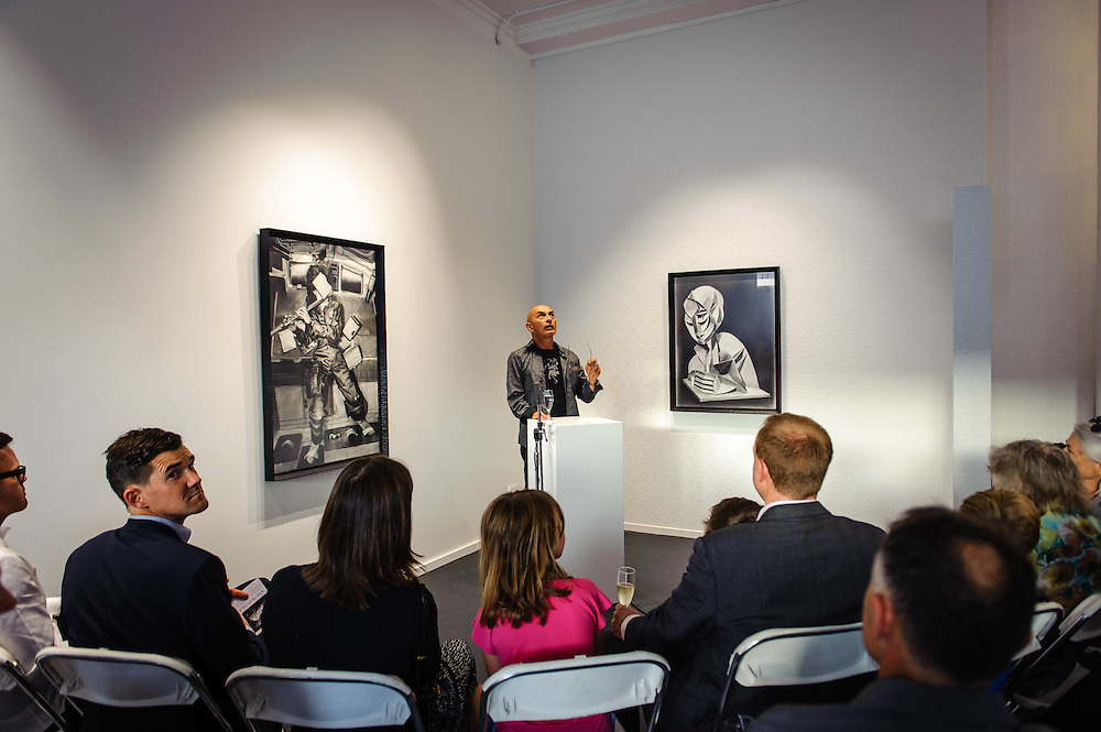 WELLINGTON, NEW ZEALAND - April 20: Suite Gallery opening of Ans Westra living museum April 20, 2016 in Wellington, New Zealand. (Photo by Elias Rodriguez)