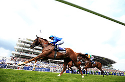 G K Chesterton ridden by William Buick (left) before winning the Investec Click & Invest Mile Handicap on Ladies Day during the 2017 Investec Epsom Derby Festival at Epsom Racecourse, Epsom. PRESS ASSOCIATION Photo. Picture date: Friday June 2, 2017. See PA story RACING Epsom. Photo credit should read: Adam Davy/PA Wire. RESTRICTIONS: Editorial use only any intended commercial use is subject to prior Epsom Downs Racecourse approval. No Private Sales. Call +44 (0)1158 447447 for further information