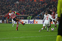 Football - 2016 / 2017 UEFA Europa League - Group K: Southampton vs Hapoel Be'er Sheva<br /> <br /> Southampton's Virgil van Dijk equalizes late on form Southampton but a draw sees Saints knocked out at St Mary's Stadium Southampton England<br /> <br /> COLORSPORT/SHAUN BOGGUST