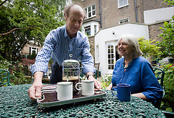 F.A.O Andrew Mitchell, Sunday Times picture desk. 30/06/2011. Pensions case study: Peter and Edith Darley pictured at their home in Primrose Hill, North London today (30/06/2011). Photo credit: Ben Cawthra.