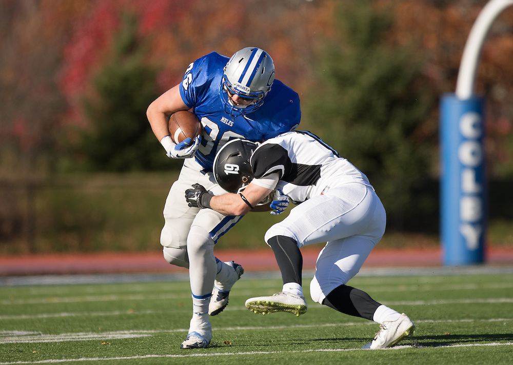 David Von Euw, of Colby College, during a NCAA Division III football game on November 8, 2014 in Waterville, ME. (Dustin Satloff/Colby College Athletics)