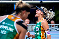 Sanne Keizer in action during the third day of the beach volleyball event King of the Court at Jaarbeursplein on September 11, 2020 in Utrecht.