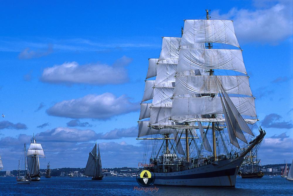 Parade of Sail at Halifax Tall Ships 2000. .Photo by Roger S. Duncan.  ...