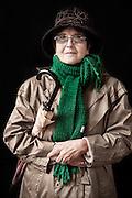 Javier Calvelo/ URUGUAY/ MONTEVIDEO/ FOTOGRAFIA/ Expoprado - Exposicion Rural del Prado de Montevideo/ Proyecto documental sobre la identidad, lo nacional, lo Uruguayo. Se trata de retratos simples mirando a camara y con un fondo neutro. Les pregunto a los fotografiados como quieren ser recordados en el futuro y de que localidad del Uruguay son.<br /> El titulo esta basado en la obra de Raymond Firth, Tipos Humanos. (Raymond William Firth, ( 1901-2002) fue un etnólogo neozelandés profesor de Antropología en la London School of Economics, es uno de los fundadores de la antropología económica británica). <br /> En la foto:  Tipos Humanos en Expoprado, Estela Raymondo, Pando. Foto: Javier Calvelo <br />  raystela@gmail.com<br /> 2013-09-13 dia viernes