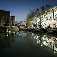 Bukhara, Uzbekistan 24 March 2012<br /> View of Labi-Hauz Ensemble during the sunset.<br /> PHOTO: EZEQUIEL SCAGNETTI