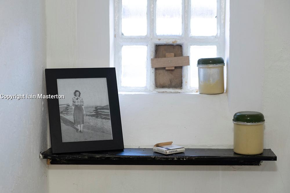 Detail inside former call at Peterhead Prison Museum in Peterhead, Aberdeenshire, Scotland, UK