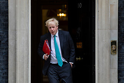 © Licensed to London News Pictures. 24/04/2018. London, UK. Foreign Secretary Boris Johnson leaves 10 Downing Street after the weekly Cabinet meeting. Photo credit: Rob Pinney/LNP