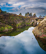 Point of the Arches is located on Si-Shi Beach in Washington state's Olympic National Park