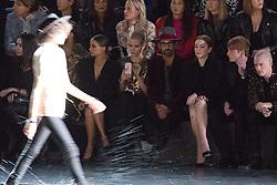 Nicole Richie, Lindsay Lohan and Dakota Lohan on the runway during the Saint Laurent Fashion Show during Paris Fashion Week Womenswear Spring - summer 2019 held in Paris, France on september 25, 2018. Photo by Nasser Berzane/ABACAPRESS.COM.