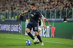 November 7, 2018 - Turin, Turin, Italy - Ander Herrera #21 of Manchester United in action during  the UEFA Champions League group H match between Juventus FC and Manchester United at Allianz Stadium on November 07, 2018 in Turin, Italy. (Credit Image: © Giuseppe Cottini/NurPhoto via ZUMA Press)