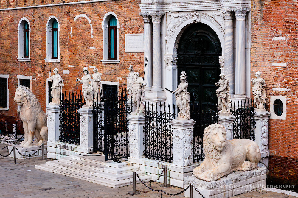 Italy, Venice. Arsenale di Venezia. The main gate, Porta Magna.