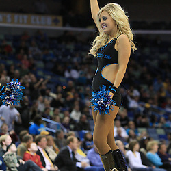 04 February 2009: The Hornets Honeybee cheerleader performs during a 93-107 loss by the New Orleans Hornets to the Chicago Bulls at the New Orleans Arena in New Orleans, LA.