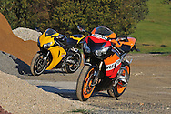 2009 Repsol Honda CBR1000 RR & 08 Honda CBR 1000 RR.Upper Plenty, Victoria, Australia.24th of October 2009.(C) Joel Strickland Photographics.Use information: This image is intended for Editorial use only (e.g. news or commentary, print or electronic). Any commercial or promotional use requires additional clearance.