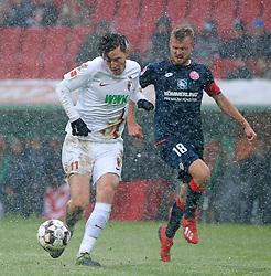 03.02.2019, 1.BL, 20. Spieltag, FC Augsburg vs Mainz 05, WWK Arena Augsburg, Fussball, Sport, im Bild:..Michael Gregoritsch(FC Augsburg) vs Daniel Brosinski ( Mainz 05)..DFL REGULATIONS PROHIBIT ANY USE OF PHOTOGRAPHS AS IMAGE SEQUENCES AND / OR QUASI VIDEO...Copyright: Philippe Ruiz..Tel: 089 745 82 22.Handy: 0177 29 39 408.e-Mail: philippe_ruiz@gmx.de (Credit Image: © Philippe Ruiz/Xinhua via ZUMA Wire)