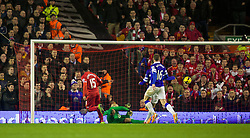 28.01.2014, Anfield, Liverpool, ENG, Premier League, FC Liverpool vs FC Everton, 23. Runde, im Bild Liverpool's Daniel Sturridge scores the second goal against Everton // during the English Premier League 23th round match between Liverpool FC and Everton FC at Anfield in Liverpool, Great Britain on 2014/01/29. EXPA Pictures © 2014, PhotoCredit: EXPA/ Propagandaphoto/ David Rawcliffe<br /> <br /> *****ATTENTION - OUT of ENG, GBR*****