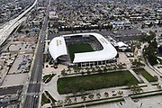 A general view of Banc of California Stadium, Monday, June 29, 2020, in Los Angeles. (Kirby Lee via AP)
