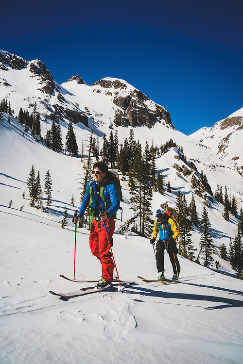 Day 4 - Brothers Mark and Chip Kogelmann backcountry skiing in the northern San Juan Mountains, Colorado.
