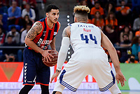 Baskonia's Shane Larkin and Real Madrid's Jeffery Taylor during Semi Finals match of 2017 King's Cup at Fernando Buesa Arena in Vitoria, Spain. February 18, 2017. (ALTERPHOTOS/BorjaB.Hojas)