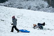 Białystok. Pierwszy tej zimy śnieg - 09.01.2021