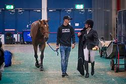 Emmen Kim, NED, Delvaux<br /> Jumping Indoor Maastricht 2018<br /> © Hippo Foto - Sharon Vandeput<br /> 25/11/18