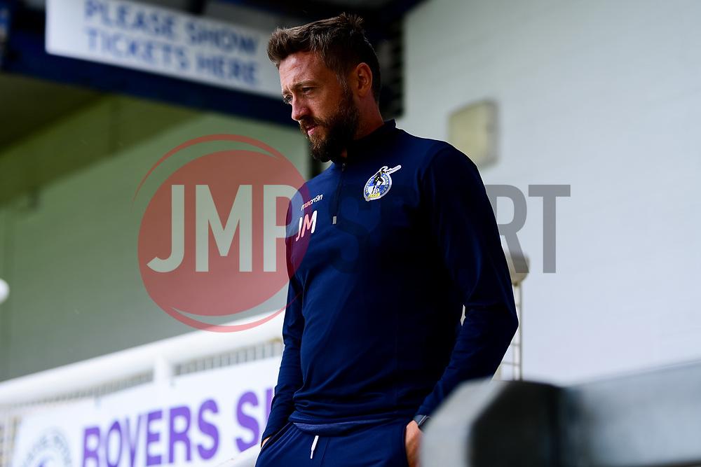 Bristol Rovers assitant manager Jack Mesure prior to kick off - Mandatory by-line: Ryan Hiscott/JMP - 28/08/2020 - FOOTBALL - Memorial Stadium - Bristol, England - Bristol Rovers v Cardiff City - Pre Season Friendly