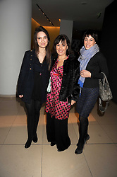 ARLENE PHILLIPS and her daughters, left, ABI and right ALANA at a reception before the launch of the English National Ballet Christmas season launch of The Nutcracker held at the St,Martins Lane Hotel, London on 5th December 2008.
