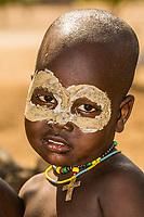 Arbore tribe toddler, Omo Valley, Ethiopia.