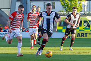 Kyle McAllister of St Mirren heads towards goal during the Ladbrokes Scottish Premiership match between St Mirren and Hamilton Academical FC at the Paisley 2021 Stadium, St Mirren, Scotland on 13 May 2019.