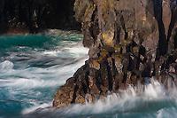 """Basatl formations in """"Los hervideros"""", south-west of Lanzarote, Lanzarote Island, Canary Islands, Spain."""