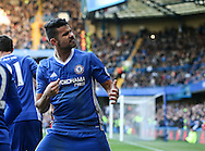 Chelsea's Diego Costa celebrates his goal during the Premier League match at Stamford Bridge Stadium, London. Picture date December 11th, 2016 Pic David Klein/Sportimage