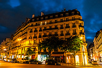 Beautiful apartment building at 18 rue du Dragon, 6th arr., Paris, France.
