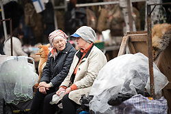 10 June 2017, Saint Petersburg, Russia. The Ula'Dania suburb holds the city's largest flea market, gathering hundreds of locals every weekend, selling used goods.