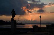 Sunrise at the harbor, Havana, Cuba