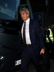 West Ham United manager Manuel Pellegrini arrives for the Premier League match at the AMEX Stadium, Brighton.
