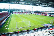 General view of The Lamex ahead of kick off during the EFL Sky Bet League 2 match between Stevenage and Morecambe at the Lamex Stadium, Stevenage, England on 6 February 2021.
