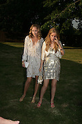 ACTRESSES: TIFFANY MULHAVEN AND TERESA SCROBA, ( CHECK SPELLING) The Summer Party in association with Swarovski. Co-Chairs: Zaha Hadid and Dennis Hopper, Serpentine Gallery. London. 11 July 2007. <br />