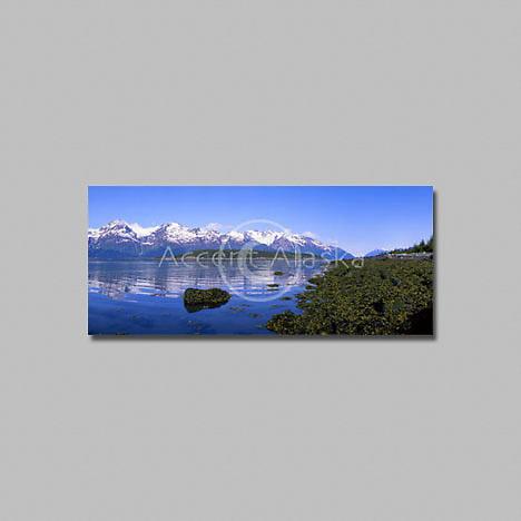 Alaska. Inside Passage. Coast range mountains near Haines.
