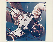 Unpublished V I N T A G E  N A S A  P H O T O G R A P H S<br /> <br /> The launch of the second collection of vintage NASA prints from www.vintagenasaphotographs.com - our new website which was launched in September. These images are previously unpublished with some unusual and exceptional iconic shots.<br /> <br /> Photo shows: James McDivitt, Ed White Walking in Space, the Earth limb beyond, Gemini4<br /> ©vintagenasaphotographs/Exclusivepix Media