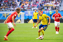 July 3, 2018 - St Petersburg, Russia - 180703 Michael Lang of Switzerland and Ludwig Augustinsson of Sweden during the FIFA World Cup round of 16 match between Sweden and Switzerland on July 3, 2018 in ST Petersburg..Photo: Petter Arvidson / BILDBYRÃ…N / kod PA / 87748 (Credit Image: © Petter Arvidson/Bildbyran via ZUMA Press)