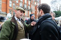 Former UKIP Press Secretary of UKIP Gawain Towler speaks with Bild journalist Philip Fabian outside the Houses of Parliament in London. London, January 15 2019.