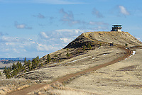 Diamond Butte Fire Lookout Tower overlooks the Custer National Forest and grassland in southeast Montana. It's the only fire lookout in the eastern part of the state that's publicly accessible and available for overnight rental.