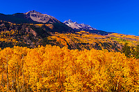Sunshine Peak and Mt. Wilson, San Juan Mountains, near Telluride, Colorado USA.
