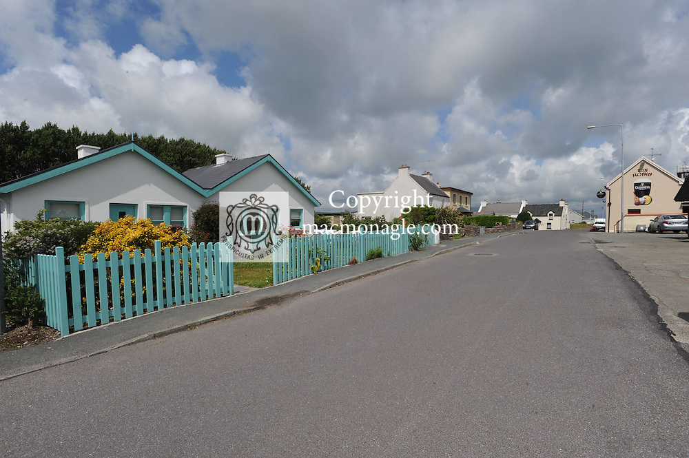Pretty cottages opposite The local church in The village of Dungegan, Ballinskelligs, County Kerry, Ireland..Picture by Don MacMonagle