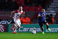 Herbie Kane of Doncaster Rovers (15) gets past his marker during the The FA Cup fourth round match between Doncaster Rovers and Oldham Athletic at the Keepmoat Stadium, Doncaster, England on 26 January 2019.